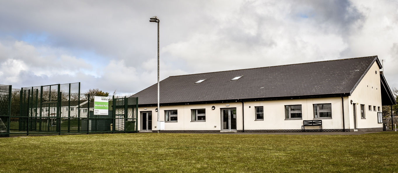 Longhoughton Community and Sports Centre Main Building from Grass Pitch