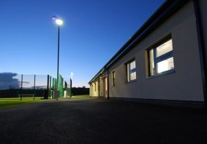 Longhoughton Community and Sports Centre Main Building in the Evening